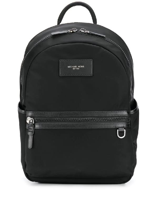 Michael Kors Brooklyn Leather Backpack In Black