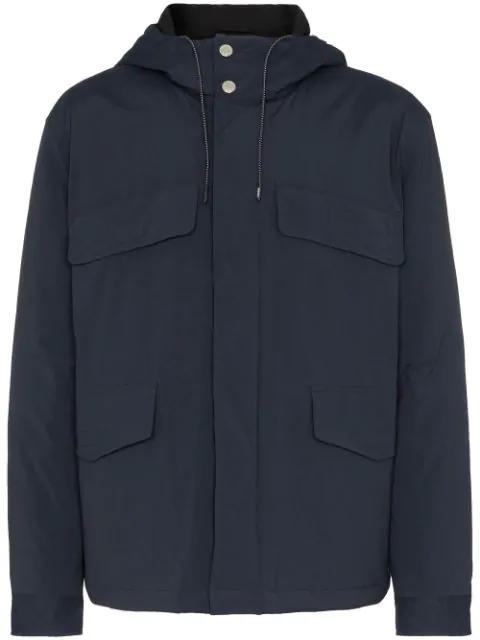 Kenzo Logo Print Windbreaker Jacket In Blue