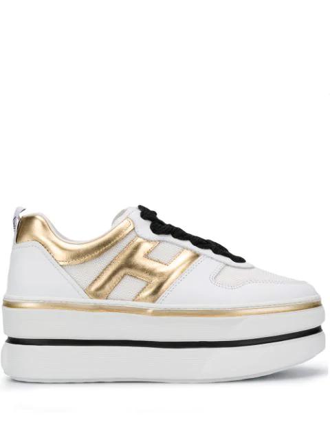 Hogan H449 Maxi Cassetta Sneaker In White