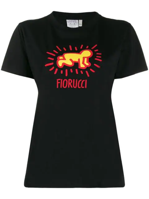 Fiorucci X Keith Haring Slim-fit T-shirt In Black