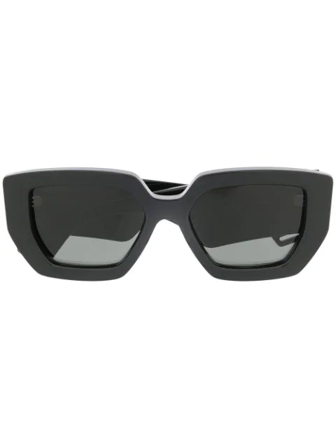Gucci Square Frame Sunglasses In Black