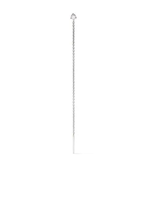 White Bird 18kt White Gold Single Rachel Chain Earring