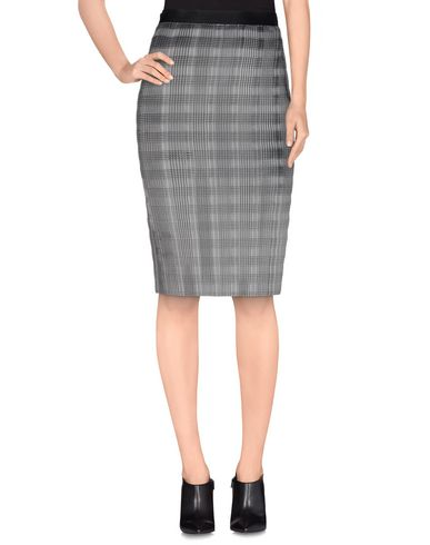 Alexander Wang Pleated Skirt With Raw Edge In Grey