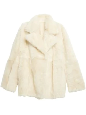 Theory Toscana Reversible Shearling And Leather Coat In Off White