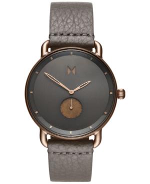 Mvmt Men's Revolver Bronze Age Gray Leather Strap Watch 45mm In Grey