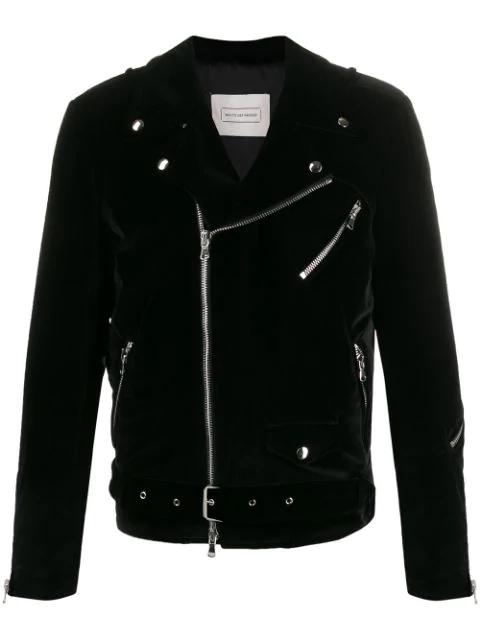 Route Des Garden Biker Jacket In Black Velvet