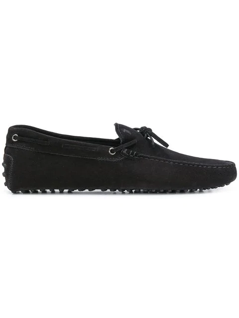 Tod's Gommino Heaven Driving Shoes In Suede In B999 Black