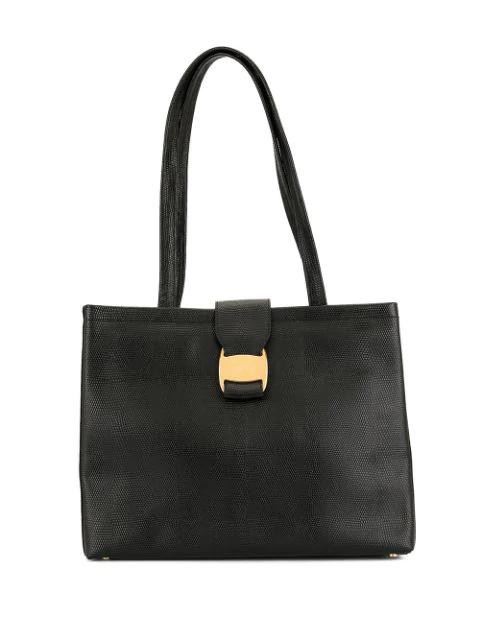 Salvatore Ferragamo Vara Tote Bag In Black