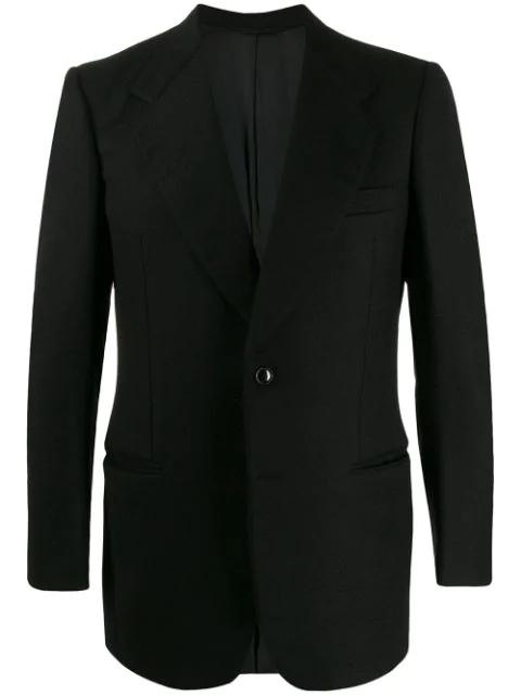 A.n.g.e.l.o. Vintage Cult 1970s Textured Dinner Jacket In Black