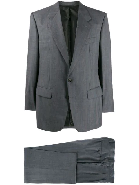 Pre-owned A.n.g.e.l.o. Vintage Cult 1990s Ballantyne Notched Two-piece Suit In Grey