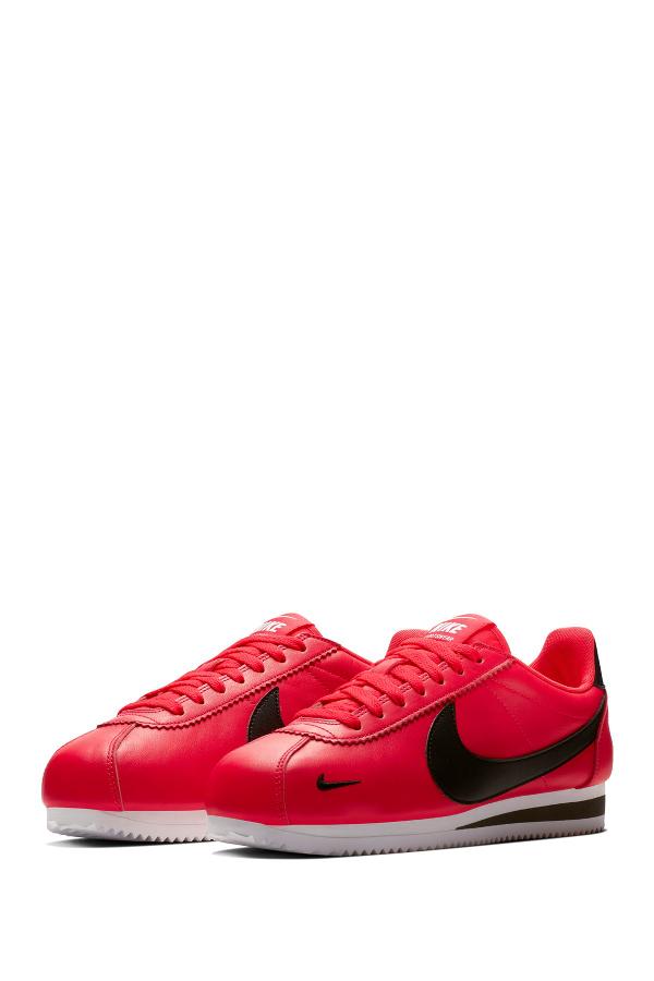 Nike Classic Cortez Premium Sneaker In 601 Rdorbt/Black