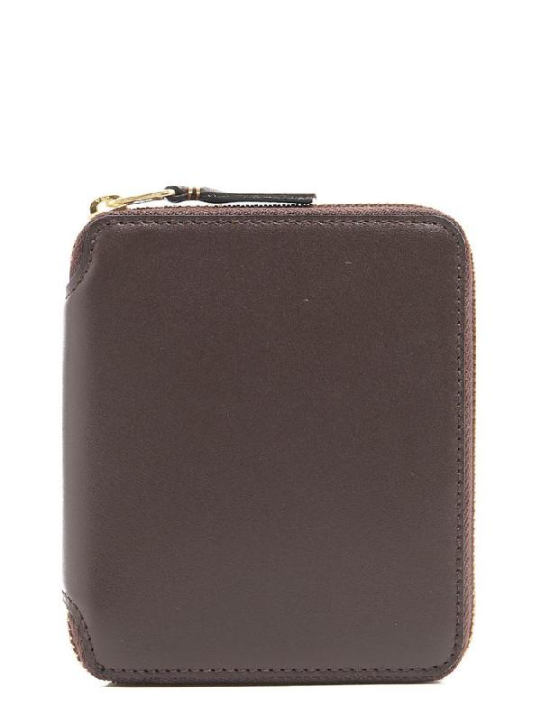 Comme Des GarÇOns Wallet Zip Around Wallet In Brown