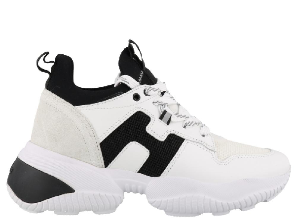 Hogan Oversized Lace Up Sneakers In Multi