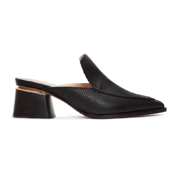 Nicholas Kirkwood Beya Textured-leather Mules In Black