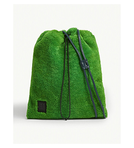 Off-White Shoelace Cross-Body Bag In Green