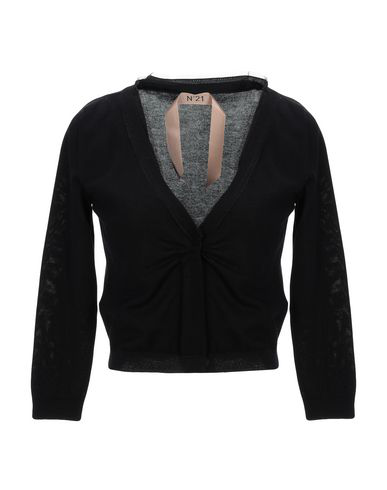 N°21 Mesh Trim Cardigan In Nero