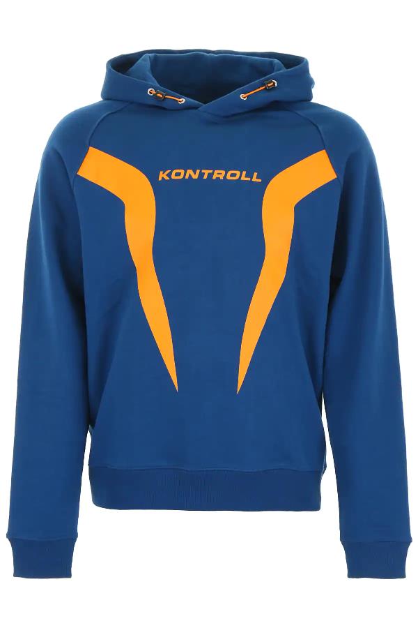 Kappa Hoodie With Logo Print In Blue,orange