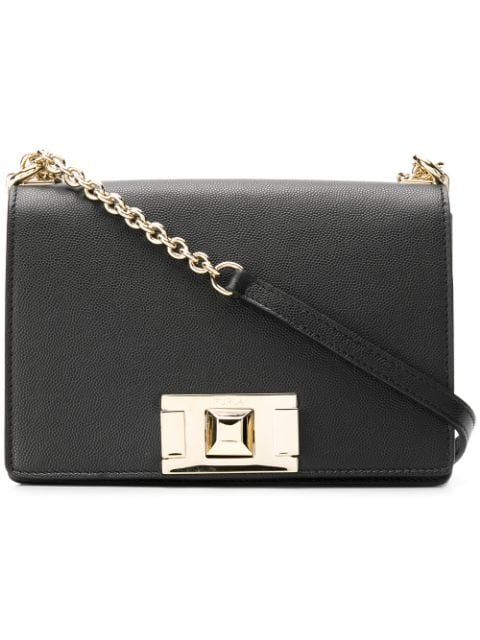 Furla Women's Small Mimi Leather Crossbody Bag In Black