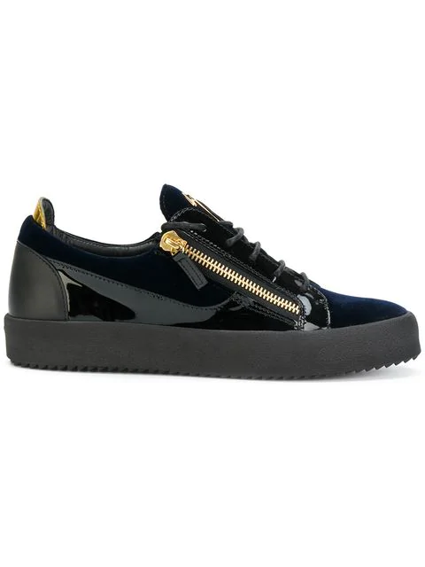 Giuseppe Zanotti Frankie Leather Low-Top Trainers In 002