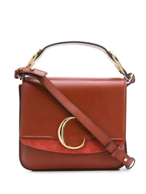 ChloÉ Brown Unisex Terracotta Medium C Bag
