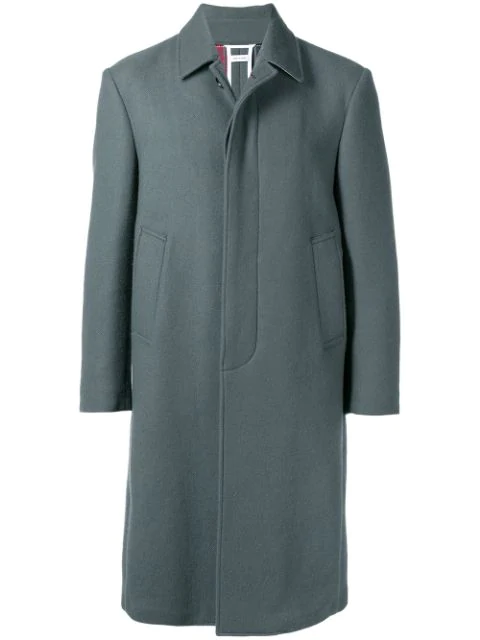 Thom Browne Relaxed Cashmere Bal Collar Overcoat In Grey