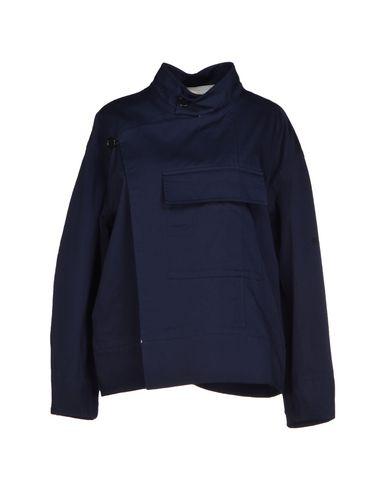 Marni Double Breasted Pea Coat In Dark Blue