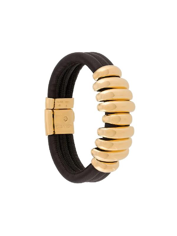 Bottega Veneta Nine Ring Bracelet In Black