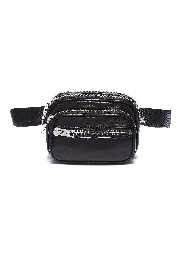 Alexander Wang 'Attica' Leather Bum Bag In Black