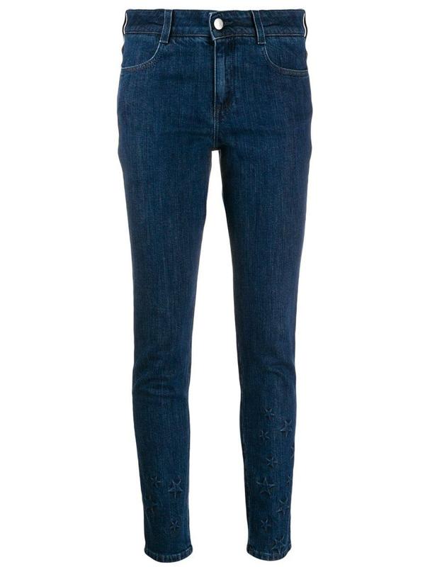 Stella Mccartney Star-embossed Skinny Jeans In Black