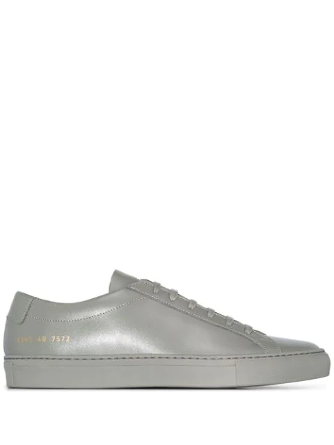 Common Projects Achilles Leather Low-top Sneakers In Grey