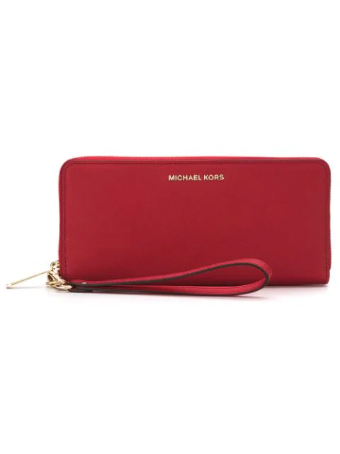Michael Michael Kors Mercer Continental Wallet In Red
