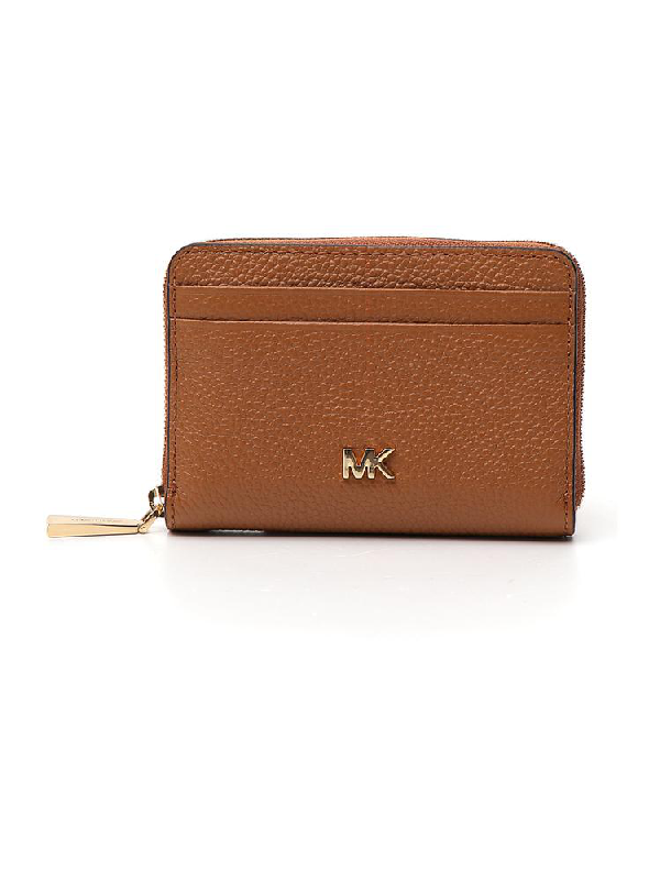 Michael Michael Kors Mercer Zip Around Purse In Brown