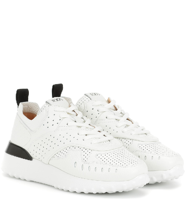 Tod's White Leather Holes Sneaker