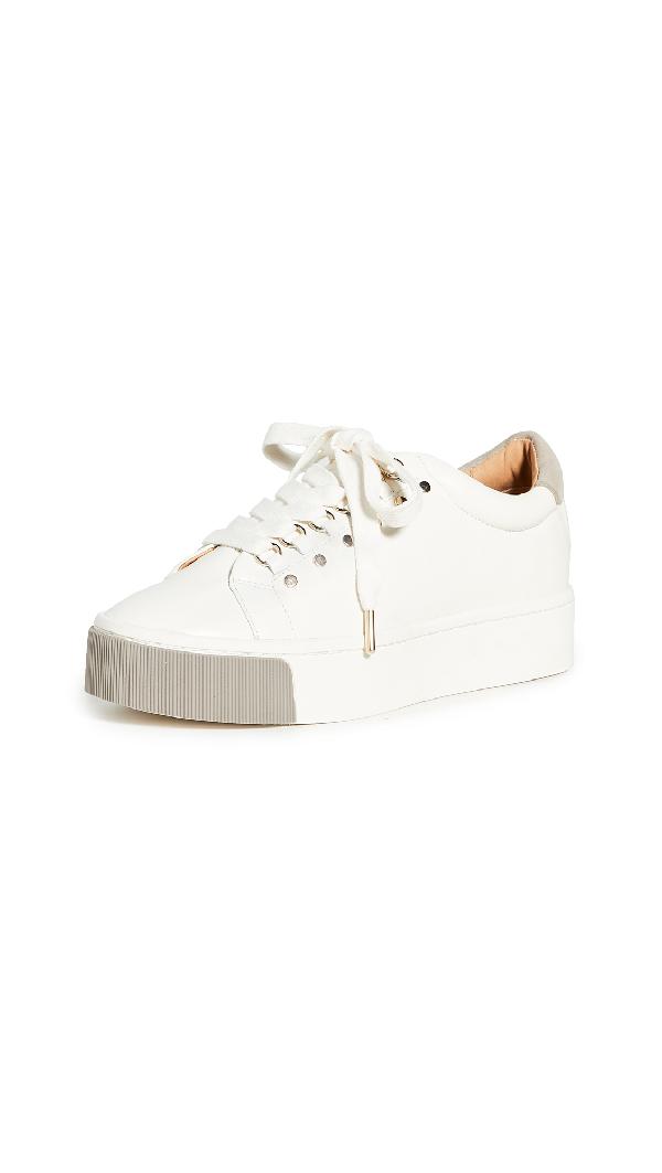 Joie Handan Leather Platform Sneakers In White