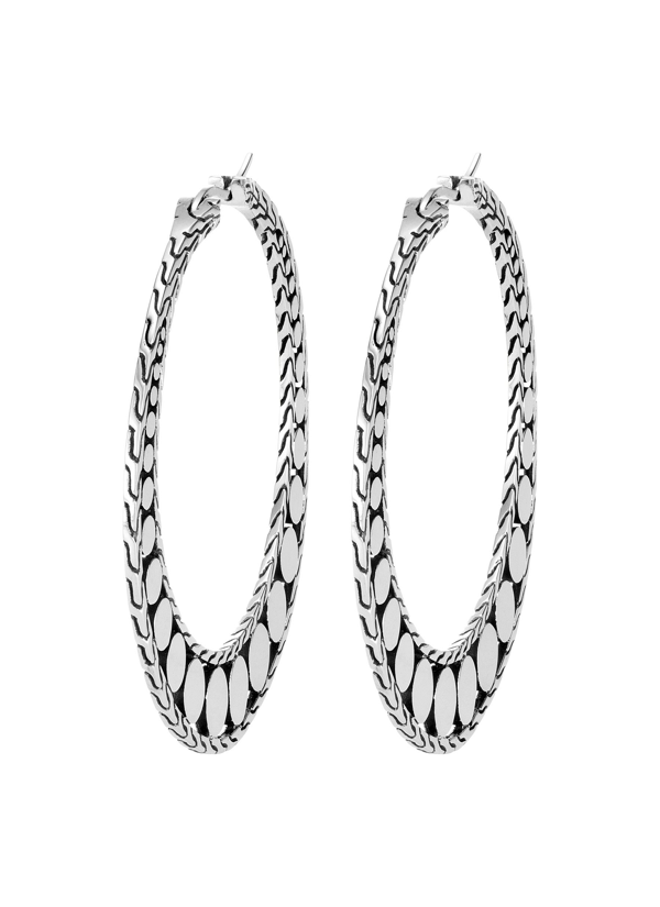 John Hardy Women's Dot Sterling Silver Hoop Earrings