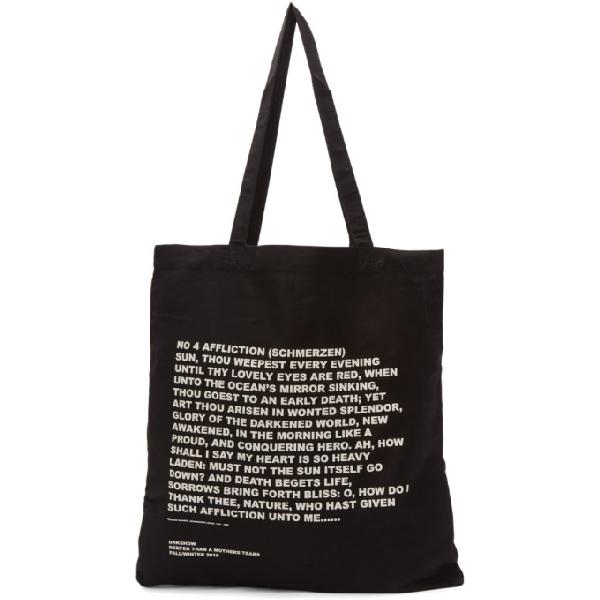 Rick Owens Drkshdw Large Affliction Tote Bag In 0921 Blk
