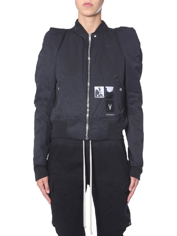 Rick Owens Drkshdw Structured Bomber Jacket In Black