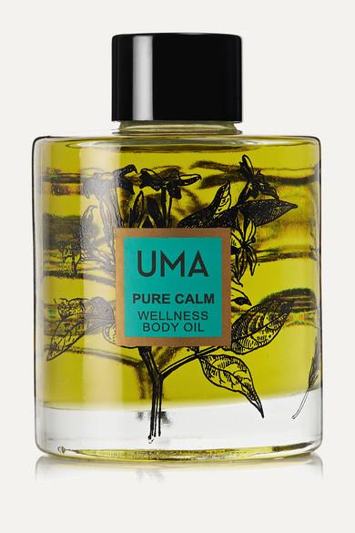 Uma Oils Net Sustain Pure Calm Wellness Body Oil, 100ml In Gold
