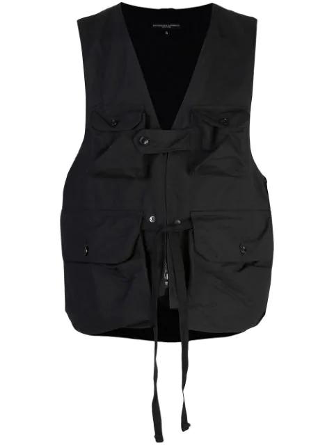 Engineered Garments Weste Mit Aufgesetzten Taschen In Black