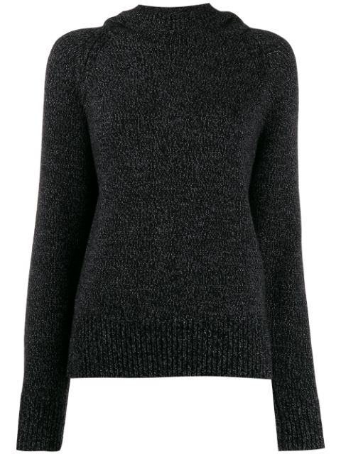 Joseph Knitted Hooded Jumper In Grey