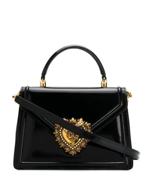 Dolce & Gabbana Sacred Heart Handbag In Black
