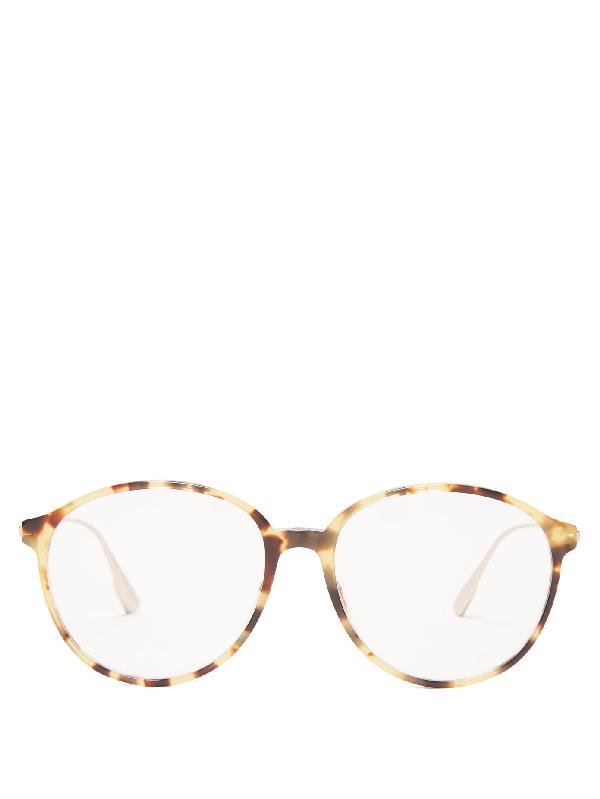 Dior Round Tortoiseshell-acetate Glasses