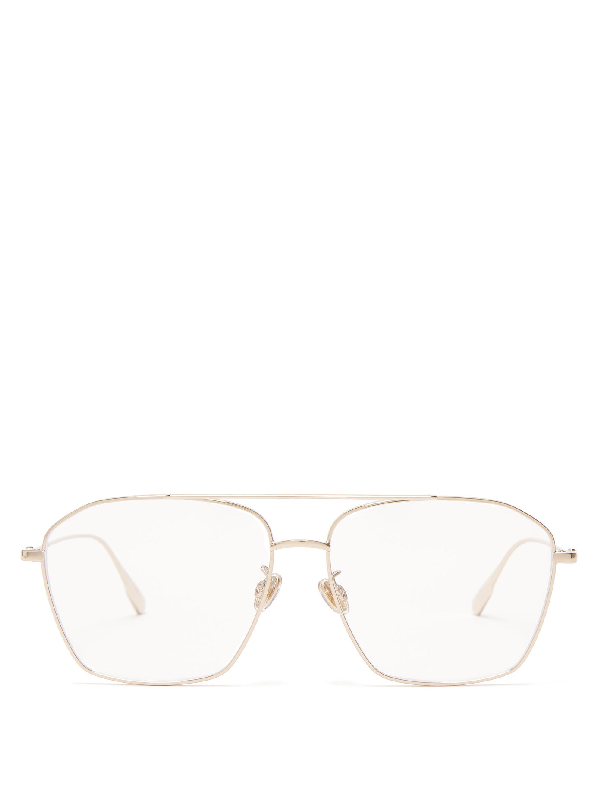 Dior Stellaire Aviator Metal Glasses In Gold