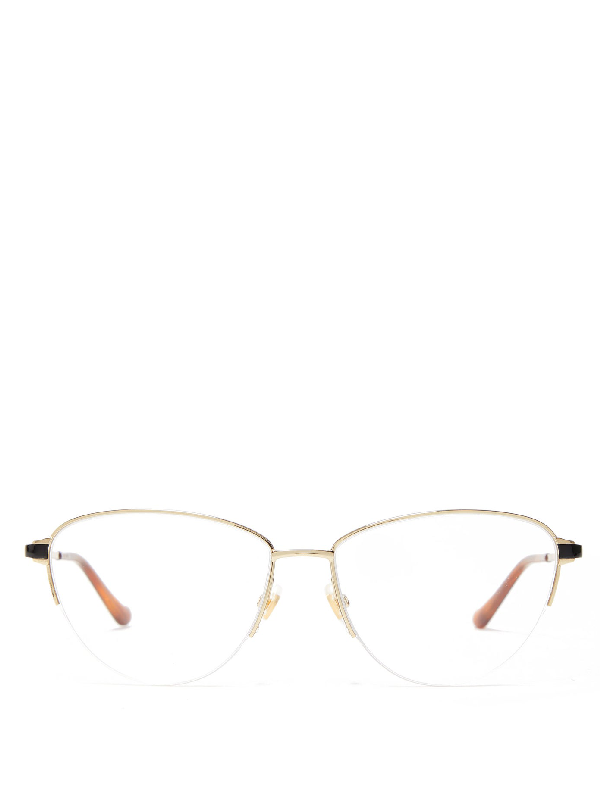 Gucci Cat-eye Stainless-steel Glasses In Silver