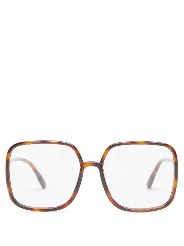 Dior So Stellaire 1 Square Acetate Glasses In Tortoiseshell