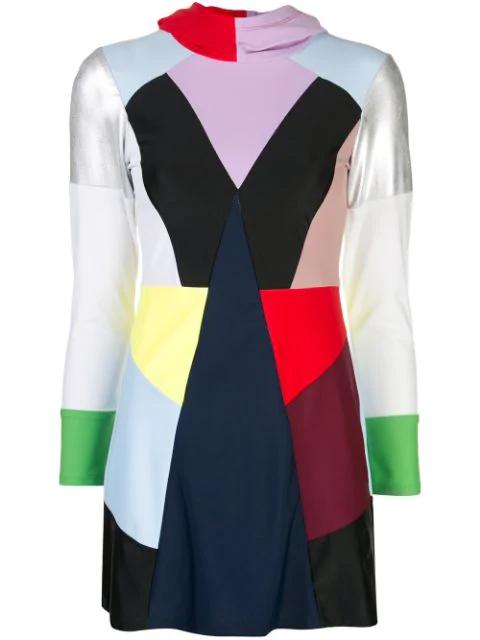 Cynthia Rowley Prism Colour Block Burkini In Multicolour
