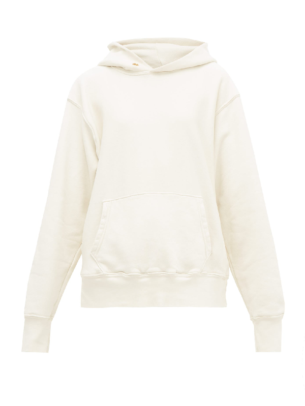 Les Tien Brushed-back Cotton Hooded Sweatshirt In Ivory