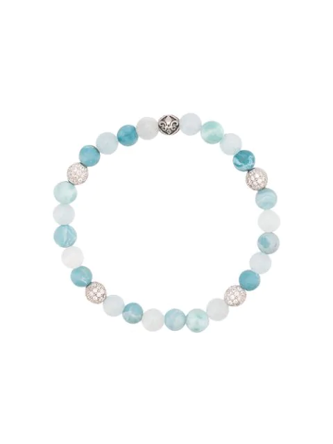 Nialaya Jewelry Faceted Stone Bracelet In Blue
