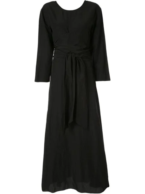 Muller Of Yoshiokubo Cache Couer Long Dress In Black