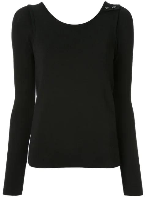 Muller Of Yoshiokubo Rib Top Sweater In Black